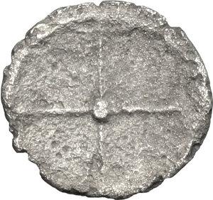 reverse: Syracuse.  Deinomenid Tyranny (485-466 BC).. AR Hemiobol, 485-478 BC