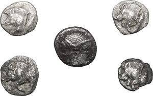 obverse: Greek World.. Loto f 5 unclassified AR small denominations of Asia Minor