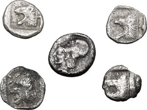 reverse: Greek World.. Loto f 5 unclassified AR small denominations of Asia Minor
