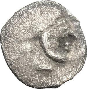 obverse: Syracuse.  Deinomenid Tyranny (485-466 BC).. AR Hemiobol, 485-478 BC