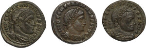 obverse: The Roman Empire.. Lot of 3 AE Follis, including: Constantine I and Licinius