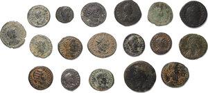obverse: Roman Empire.. Lot of 18 unclassified AE denominations