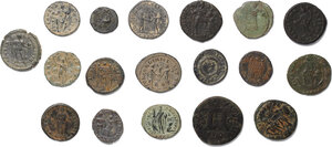 reverse: Roman Empire.. Lot of 18 unclassified AE denominations