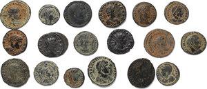 obverse: Roman Empire.. Lot of 18 unclassified late Roman AE denominations