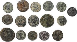 obverse: Roman Empire.. Lot of 15 unclassified AE Denominations and 1 AR Denarius of Trajan