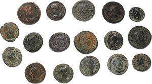 obverse: Roman Empire.. Lot of 17 unclassified late Roman AE denominations