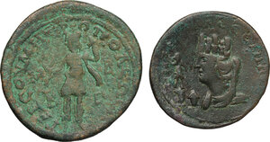 reverse: The Roman Empire.. Multiple lot of 2 AE Provincial coins of Severus Alexander, including, Mesopotamia
