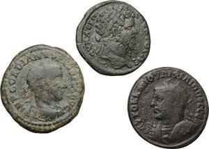 obverse: Roman Empire.. Multiple lot of three (3) AE provincial coins