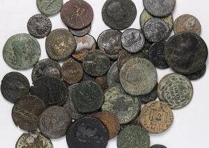 obverse: Roman Empire.. Lot of 45 unclassified Provincial AE denominations