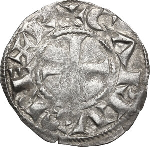 obverse: France.  Charles le Simple As Charles IV, King of West Francia (898-922). AR Denier, Metalo (Melle) mint