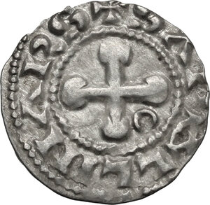 obverse: France.  Anonymous Bishops (12th-13th century). AR Denier, Valence mint
