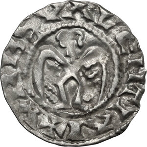 reverse: France.  Anonymous Bishops (12th-13th century). AR Denier, Valence mint