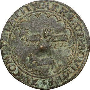 reverse: France.  Francis I (1515-1547).. AE Token, city council of Bourges