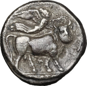 reverse: Central and Southern Campania, Neapolis. AR Stater, 300-275 BC