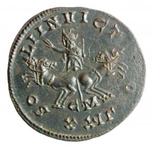 reverse: Impero Romano. Probo. 276-282 d.C. Antoniniano. Ae. D/ IMP CM AVR PROBVS PF AVG Busto radiato verso sinistra. R/ SOLI INVICTO Il Sole in quadriga di fronte. Al centro CM. In esergo XXIB. Zecca Cyzico. RIC V-2 Cyzicus 911. Peso 3,60 gr. Diametro 22-23 mm. BB/qSPL.