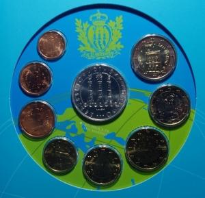 obverse: San Marino. Nuova monetazione. Serie 2008. In Confezione Originale. FDC