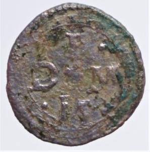 obverse: Zecche Italiane . Casale . Ferdinando Gonzaga (1612-1626). Quattrino. MIR 344. MI. Grammi 0,83. BB.