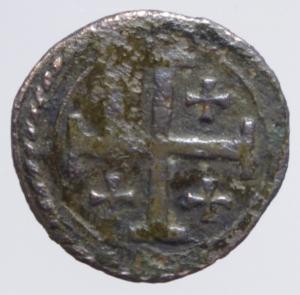 reverse: Zecche Italiane . Casale . Ferdinando Gonzaga (1612-1626). Quattrino. MIR 344. MI. Grammi 0,83. BB.