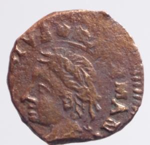 obverse: Zecche Italiane. Mantova. Francesco II Gonzaga. 1484-1519. Quattrino. AE. D/ Ritratto di Virgilio. Peso 1,10 gr.CNI IV 264.40. qSPL. R