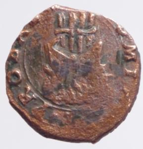 reverse: Zecche Italiane. Mantova. Francesco II Gonzaga. 1484-1519. Quattrino. AE. D/ Ritratto di Virgilio. Peso 1,10 gr.CNI IV 264.40. qSPL. R