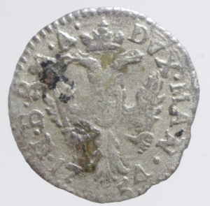 reverse: Zecche Italiane. Mantova. Maria Teresa (1740-1780). 5 soldi 1754. MIR 763/2. MI. g.0,65 RR. qBB.