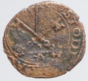 reverse: Zecche Italiane.Piacenza. Anonime (Sec. XVI). Quattrino. CNI 36 (Adriano VI). M. 6. Berm. 791. MI. g. 0.80 BB.