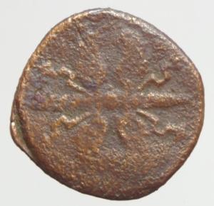 reverse: Zecche Italiane. Sabbioneta. Vespasiano Gonzaga (1541-1591). Sesino. MIR 939.Peso 1,05 gr.AE. R. qBB.
