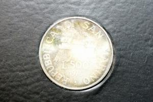 obverse: Zecche Italiane. San Marino. 500 lire 1975. Serie in confezione originale.