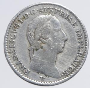 obverse: Zecche Italiane. Venezia. Francesco I d Asburgo e Lorena (1815-1835). 1/4 di lira 1822. Pag. 153. AG.BB