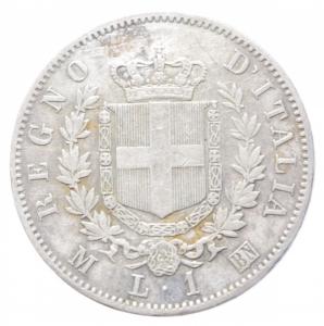 obverse: Casa Savoia.Vittorio Emanuele II (1861-1878) Lira 1863 Milano. AG. Pag. 514. BB