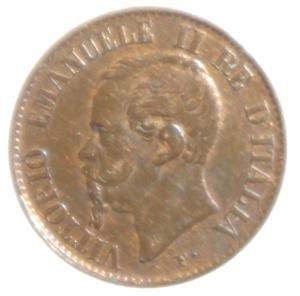 obverse: Casa Savoia. Vittorio Emanuele II. 1 Centesimo 1867. Milano. Rame. Peso 1,00 gr. Diametro 15 mm. SPL+.