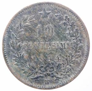 obverse: Casa Savoia . Umberto I (1878-1900). 10 centesimi 1894 Roma. Pag. 613. CU. R.BB.