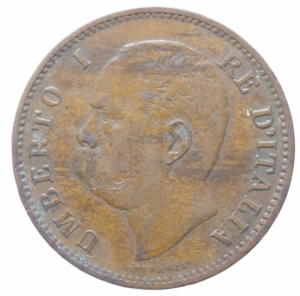 reverse: Casa Savoia. Umberto I. 5 Centesimi 1896. Peso 5,00 gr. Diametro 25 mm. Pagani 618. BB+.R