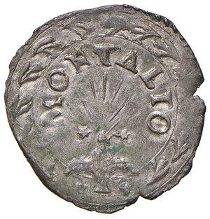 reverse: Montalto. Sisto V (1585-1590). Baiocco MI gr. 1,03. Muntoni 133 var. Berman 1385. MIR 1381/1. Raro. q.SPL