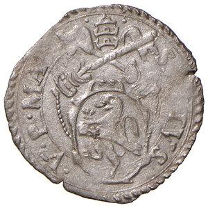 obverse: Montalto. Sisto V (1585-1590). Baiocco MI gr. 0,82. Muntoni 133 var I. Berman 1385. MIR 1381/2. Raro. SPL