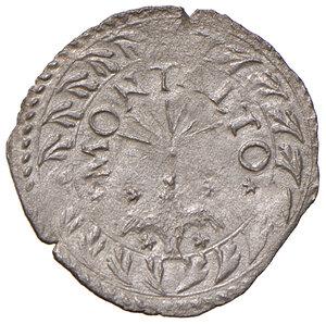 reverse: Montalto. Sisto V (1585-1590). Baiocco MI gr. 0,82. Muntoni 133 var I. Berman 1385. MIR 1381/2. Raro. SPL