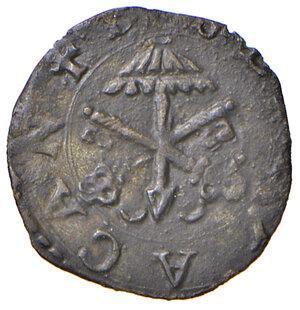 obverse: Montalto. Sede Vacante 1590 I e II (Camerlengo card. Enrico Caetani). Quattrino MI gr. 0,63. Muntoni 17. Berman 1407. MIR 1402/2. Molto raro. Più di BB