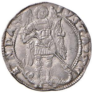 reverse: Napoli. Ferdinando I d'Aragona (1458-1494). Coronato (sigla T; Gian Carlo Tramontano m.d.z., 1488-1514) AG gr. 3,94. P.R. 17b. MIR 69/2. Vall-Llosera i Tarres 165 tipo F (1489/90-1494). Esemplare ben coniato, SPL