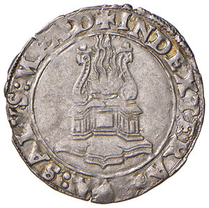 reverse: Napoli. Alfonso II d'Aragona (1494-1495). Armellino (sigla T; Gian Carlo Tramontano m.d.z., 1488-1514) AG gr. 1,64. P.R. 5. MIR 92. Vall-Llosera i Tarres 290 tipo A (1489/90-1494). Raro. Ottimo esemplare, SPL