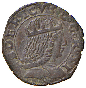 obverse: Napoli. Federico III d'Aragona (1496-1501). Sestino AE gr. 2,05. P.R. 11. MIR 109. Vall-Llosera i Tarres 328b. q.SPL