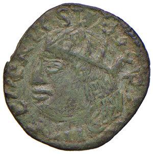 obverse: Napoli. Federico III d'Aragona (1496-1501). Cavallo AE gr. 2,08. P.R. 21. MIR 110/3. Vall-Llosera i Tarres pag. 446, EI/b1. Estremamente raro. Esemplare particolarmente ben conservato, q.SPL