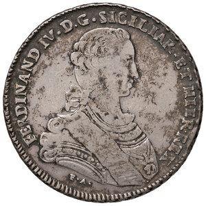obverse: Napoli. Ferdinando IV di Borbone (1759-1816). Piastra da 120 grana 1767 AG gr. 25,09. P.R. 46. MIR 366. Rara. BB
