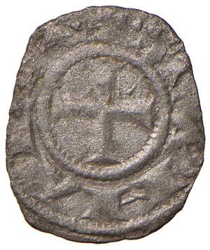 reverse: Orvieto. Repubblica autonoma (1256-1265). Denaro MI gr. 0,52. CNI 2. Rarissimo. Buon BB