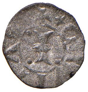 obverse: Padova. Iacopo II da Carrara (1345-1350). Denaro piccolo MI gr. 0,16. CNI 21. MEC 12, 921. Rarissimo. Conservazione insolita per il tipo, q.SPL