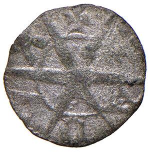 reverse: Padova. Iacopo II da Carrara (1345-1350). Denaro piccolo MI gr. 0,16. CNI 21. MEC 12, 921. Rarissimo. Conservazione insolita per il tipo, q.SPL