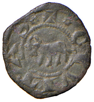 reverse: Parma. Repubblica (1248-1322). Monete battute nel 1322. Piccolo o torellino MI gr. 0,51. CNI 16. MIR 907. Molto raro. Buon BB