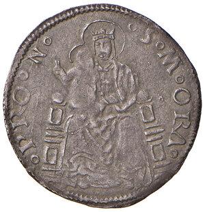 reverse: Pesaro. Giovanni Sforza (1489-1500 e 1503-1510). Grosso AG gr. 2,05. CNI 33. Cavicchi PS, 74.  Patina di medagliere, q.SPL