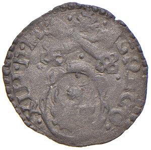 obverse: Ancona. Gregorio XIII (1572-1585). Quattrino MI gr. 0,43. Muntoni 329. Dubbini-Mancinelli pag. 166 (12° tipo). MIR 1230/2. Molto raro. Buon BB