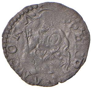 reverse: Ancona. Gregorio XIII (1572-1585). Quattrino MI gr. 0,43. Muntoni 329. Dubbini-Mancinelli pag. 166 (12° tipo). MIR 1230/2. Molto raro. Buon BB