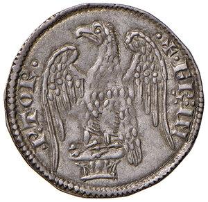 obverse: Pisa. Repubblica. Emissioni a nome di Federico I (1155-1312). Aquilino maggiore AG gr. 3,26. CNI 20/23. MIR 395 (1255-1257). Molto raro. Migliore di BB